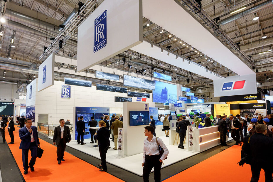 Rolls Royce stall at trade fair in Germany